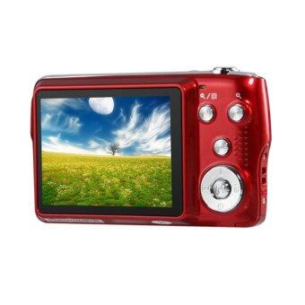 15MP Digital Camera 2.7inch LCD Screen 3X Optical Zoom 4X Digital Zoom Rechargeable Li-ion battery with Anti-shake (Red)