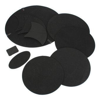 10Pcs Bass Snare Drums Soundoff/ Quiet Mute Silencer Drumming Practice Pad Set