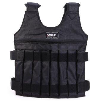 10kg Max Loading Adjustable Weighted Vest Fitness Training Jacket (BLACK)