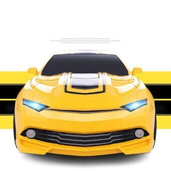 1:16 Big Size SUV Car Models Deformation Robot Transformation Remote Control RC Car Toys for Children Kids Gift,Yellow