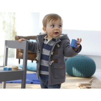 Baby Boy Fleece Warm Hooded Coat (Grey)