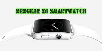 (Free 16GB memory card)(can online) ZenGear 2016 New Bluetooth SmartWatch X6 For Apple iPhone Android Phone With Camera FM Support SIM Card (White)