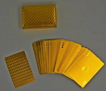 24k Gold Foil Playing Cards Traditional Poker Size Golden Game Cards Mosaic Back