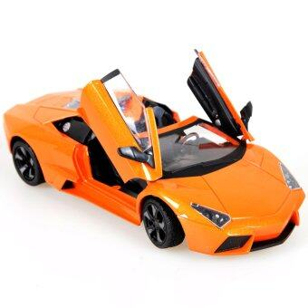 1:24 Diecast Sound&Light Convertible Racing Car Toy Model Kids Intellectual Toys Gift Orange