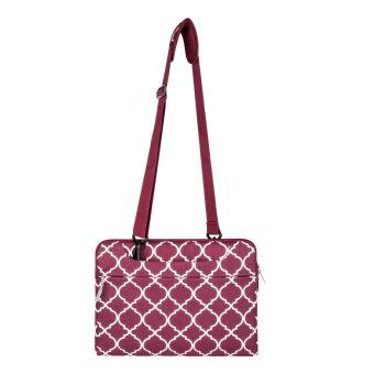 14inch Fashion Canvas Carrying Shoulder Notebook Bags For Asus/Macbook ,Wine Red