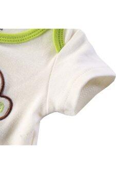 3 Pack Short Sleeve Onesies Baby Bodysuit for Baby Boys/Girls (36)