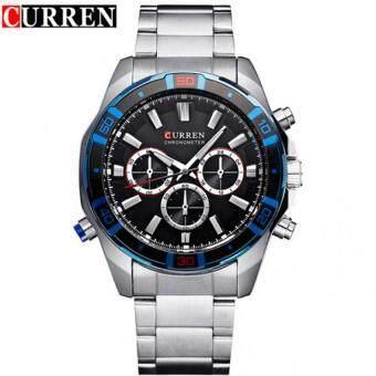 45174f3c53e (100% Authentic) CURREN 8184 Stainless Steel Curren Watch Business Men  Japan Movement Watch