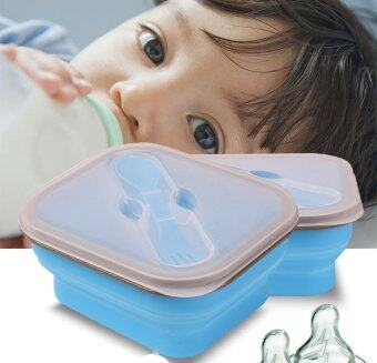 1 Set Bento Lunch Box Small Size Collapsible Lunch Box Food Safe Container Silicone Lunch Boxes for Microwave