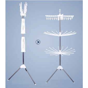 [ECONOMY DEAL] Set of 2: 3 - Tier Clothes Suspended Drying Rack
