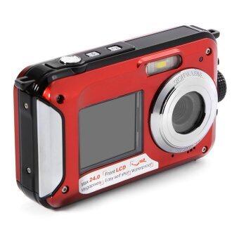 24MP Double Screen Underwater Digital Video Camera HD 1080P 3m Waterproof LF747