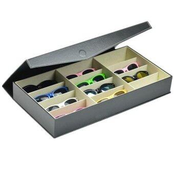 12 Pieces Sunglass Eyewear Display Storage Case Tray Organizer for Glasses, Jewellery and Watches Display-Black