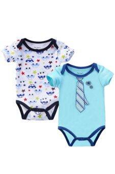 3 Pack Short Sleeve Onesies Baby Bodysuit for Baby Boys/Girls (37)