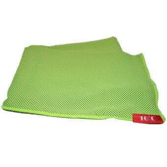 Twin Pack: 16C Is-Cool Sports Leisure Activity Canadian Fabric Golf Towel Green Colour