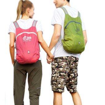 14L Ultra Light Waterproof Folding Hiking Camping Travel Backpack Daypack Bags Rucksack(Green)