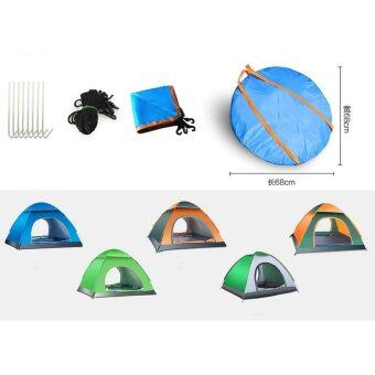 (Automatic Open)3-4 People Outdoor Camping Tent Package Portable Travel Tent FREE Carry Backpack