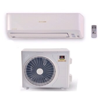 (Inverter Package Offer) Mitsubishi 1.0hp DC Inverter with ionizer Air Conditioner SRK/C10YN-S(R410A) + Rubine Rain Shower Water Heater c/w DC Inverter Silent Booster Pump RWH-SSE851D-RCB(Carbon Black)