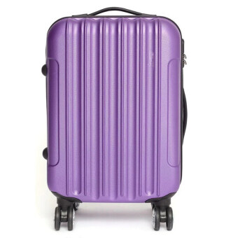 [Venture Deal] 20\ Hard & Compact ABS Suitcase Straight Line Travel Luggage (Purple)