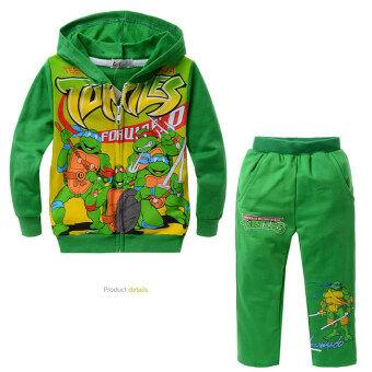 2 Pieces Ninja Turtles Boys' or Girls' Coat + Pant Coats Set(Color:Green)