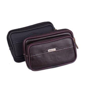 2016 high quality travel waist bag men fanny pack leather belt bag mens waist pack pochetes homem bolso de cintura men QB051