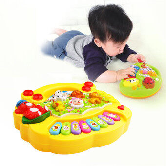1Pcs New Baby Music Toy Kids Educational Toy Musical Developmental Animal Farm Piano Songs Sound Toys
