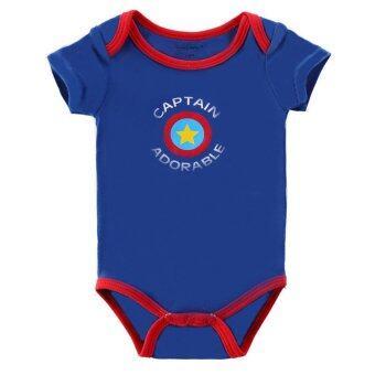 3 Pack Short Sleeve Onesies Baby Bodysuit for Baby Boys/Girls (35)