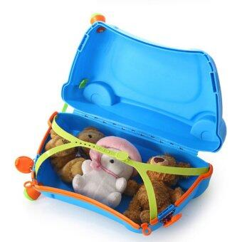 2 in 1 Baby Ride On Car and Luggage Bag - Blue