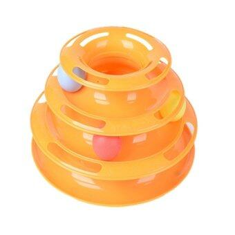 Cocotina Cat Plate Trilaminar Crazy Ball Disk Toy Orange