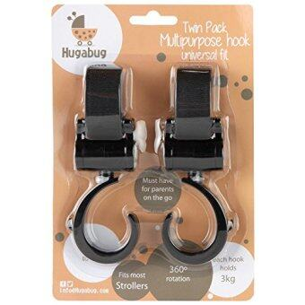[International Shipping]Stroller Hooks - (2 Pack) Multi Purpose Clips - Fit Any Stroller - 100% Satisfaction Or Money Back - Hangers for Baby Diaper Bags, Groceries, Purse - Great Accessory when Jogging, Walking Or Shopping()
