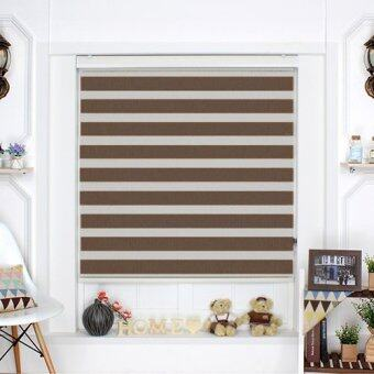 [Blind Korea] Combi Blinds / Zebra Blinds / 100% Made in Korea / W122cm x H190cm / Blinds / Window Blinds / Korea Blinds / Mocha