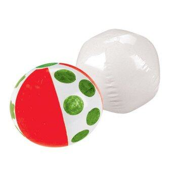 12pcs/Lot Christmas Diy Beach Ball Inflatable Ball Child Inflatable Toys Elastic Ball