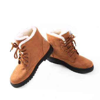 YingWei Snow Boots Martin Boots Korean Factory Outlets Waterproof Ladies Shoes Khaki