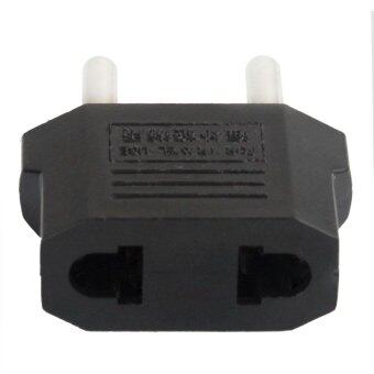 hazobau Travel USA to Europe Power Plug Adapter (Black)
