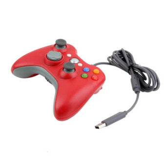 USB Wired Joypad Gamepad Controller For Microsoft for Xbox Slim 360 for PC for Windows7 Joystick Game Controller(Red)