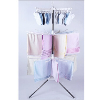 [ECONOMY DEAL] Set of 2: 3 - Tier Clothes Suspended Drying Rack with Free 2 pcs. Hanger
