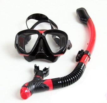 2016 New whale Brand Water Sport Mask Diving Snorkeling Tool Snorkel Mask And Breathing Tube Combo All In One and swimming goggles -red (Intl)-pink