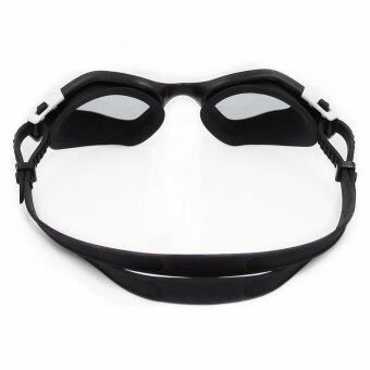 2016 New Panoramic Silicone Swimming Goggles with smoke lens (CF-7200) black
