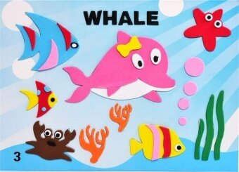 16 Style/Lot DIY Cartoon Animal 3D EVA Foam Sticker Puzzle Early Learning Education Creative Toys