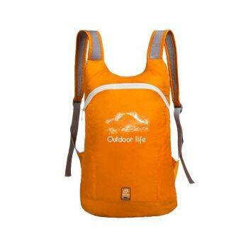 14L Ultra Light Waterproof Folding Hiking Camping Travel Backpack Daypack Bags Rucksack(Orange)