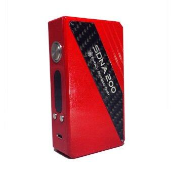 (ORIGINAL) Authentic SDNA 200W High Wattage Box Mod for Vape & Electronic Cigarettes (RED)