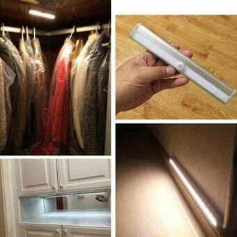 10-LED Wireless Motion Sensing Step Closet Cabinet LED Night Light (White Cool Light)