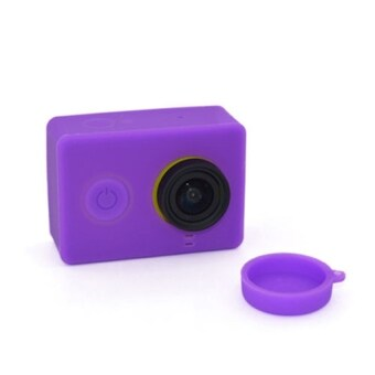 1 pcs Sports Action Camera Lens Cover for Xiaomi Yi WIFI Action Camera Purple
