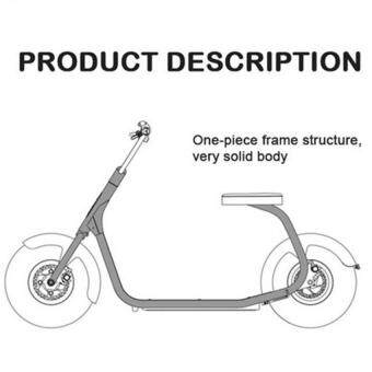 (IMPORT) High Quality CityCoCo Harley 2 wheels off road smart city scooter electric motorcycle (BLUE)