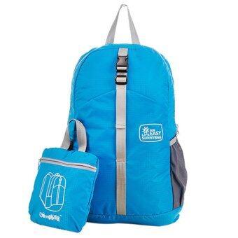 2016 Newest Water-proof Folding Mountaineering Bags Children School Bag Satchel (Blue)