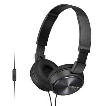 [ Original ] Sony MDR-ZX310AP Light Weight Headphones - Powerful & Balanced Stereo Sound With Folding Design - Black