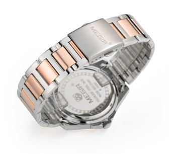 (100% Authentic) MEGIR Female Stainless Steel Fashion Watch (Silver&Gold) + Exclusive Watch Box