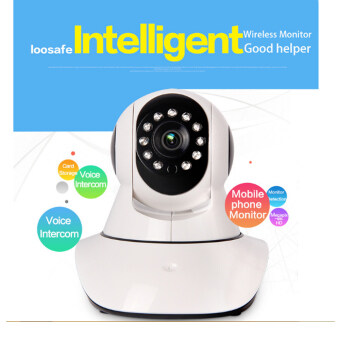 (Local Delivery)LOOSAFE Home Security IP Camera Wireless Mini IP Camera 720P Night Vision CCTV Camera
