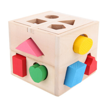 13Hole Kids Educational Shape Box Intelligence Develomental Toys Blocks