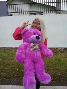 1 Meter (100cm) Giant Teddy Bear (Purple)