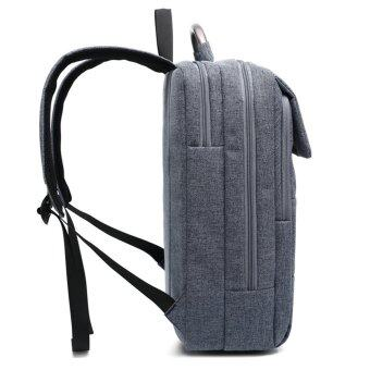 15.6 Universal Laptop Computer Notebook Business Backpack suit fabric with laptop case / file classification / accessory compartments briefcase for man (Denim blue)
