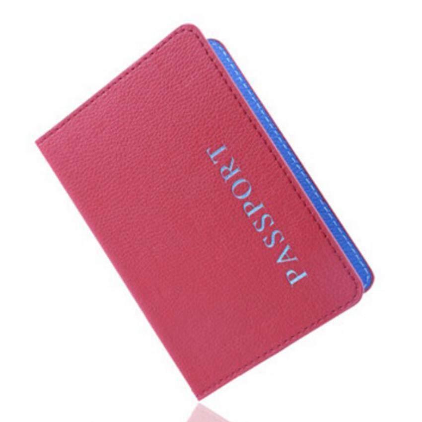Adapula Kasus Dompet Paspor Kulit Penutup Perjalanan Pemegang Kartu Identitas Penyelenggara Kopling Merah